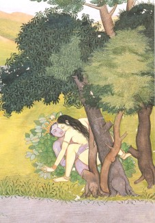 Radha and Krishna making love